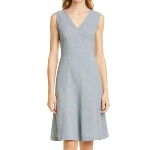 TAILORED BY REBECCA TAYLOR Linen Blend Dress 0